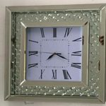 FLOATING SPARKLE CRYSTAL MIRRORED SQUARE CLOCK £120