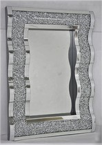 MOCHA DIAMOND CRUSHED WAVE MIRROR £300 -COLLECT IN STORE ONLY