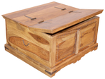 BOX COFFEE TABLE INDIAN SHEESHAM WOOD FURNITURE- COLLECT IN STORE