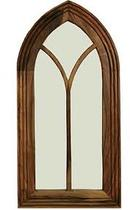 TALL GOTHIC MIRROR - INDIAN SHEESHAM WOOD FURNITURE- COLLECT IN STORE