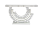 MOCKA DIAMOND CRUSHED CRESENT CONSOLE TABLE 拢585
