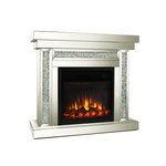MOCKA DIAMOND CRUSHED CRYSTAL FIREPLACE WITH ILLUSION FIRE £1450