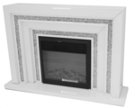 ARIANA DIAMOND CRUSHED CRYSTAL WHITE LEVELS FIREPLACE £1500