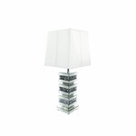 MOCKA DIAMOND CRUSHED CRYSTAL BLOCK SMALL LAMP (SHADES NOT INCLUDED) 拢165