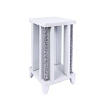 ARIANA DIAMOND CRUSHED CRYSTAL MEDIUM SIDE TABLE £330