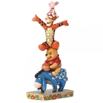 Built By Friendship (Pooh, Eeyore, Tigger & Piglet Figurine) - Disney Traditions