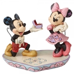 A Magical Moment (Mickey Proposing to Minnie Figurine) - Disney Traditions