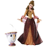 Christmas Belle With Chip Figurine (Beauty & the Beast) - Disney Showcase Collection