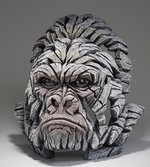 Gorilla White Bust - Edge Sculpture (Pre-order for 4 to 6 weeks arrival)