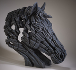 Horse Bust Black - Edge Sculpture (Pre-order for 4 to 6 weeks arrival)