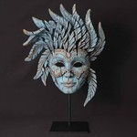 Venetian Teal Carnival Mask - Edge Sculpture (Pre-order for 4 to 6 weeks arrival)