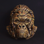 Gorilla Smouldering Brown Rust Bust - Edge Sculpture (Pre-order for 4 to 6 weeks arrival)