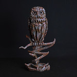 Owl Iron Pink Mist Sculpture - Edge Sculpture (Pre-order for 4 to 6 weeks arrival)