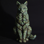 Sitting Emerald Glow Cat Sculpture - Edge Sculpture (Pre-order for 4 to 6 weeks arrival)