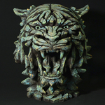 Tiger Emerald Glow Bust - Edge Sculpture (Pre-order for 4 to 6 weeks arrival)