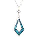 Kite Paua Shell Necklace - Byzantium Collection