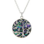Tree of Life Paua Shell Necklace - Byzantium Collection