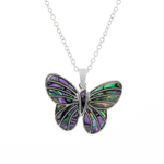 Butterfly Paua Shell Necklace - Byzantium Collection