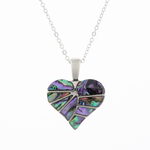 Heart Paua Shell Necklace - Byzantium Collection