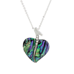 Glamour Heart Paua Shell Necklace - Byzantium Collection