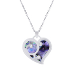 Cute Heart Paua Shell Necklace - Byzantium Collection