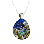 Aztec Paua Shell Necklace - Byzantium Collection