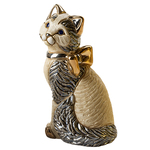 Cat with Gold Ribbon