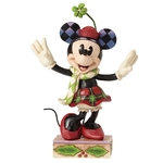 Merry Minnie Mouse Disney Traditions Collectible Figurine