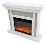 Glamour Crystal Mesh Fireplace