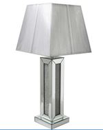 Mirrored Glamour Table Lamp