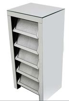 Glamour 5 Drawer Chest Silver