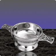 "English Pewter PQ503 Quaich 4.5"" 10 Characters Engraved Free"