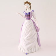 Royal Doulton HN4453 Pride of Scotland In Purple & White Dress With Mauve Top