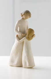 Willow Tree 26021 Figurine Mother & Daughter -Celebrating the Bond of Love Between Mothers & Daughters - Cream Mother Figurine with Daughter
