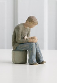 "Willow Tree 26129 New Dad Figurine ""In awe and wonder of what's to come"""