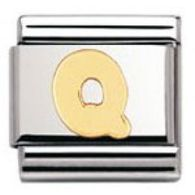 Nomination 030101/17 Composable Classic Charm LETTERS Stainless Steel & 18K Gold Letter Q