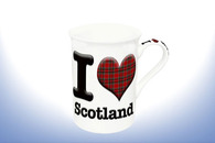 Leonardo Mugs LP98708 I LOVE SCOTLAND BONE CHINA MUG