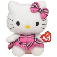 TY Beanie Babies Hello Kitty Tartan Original Beanies Baby Collection
