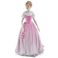 Royal Doulton HN4529 Love Of Life In Pink And White Dress - Breast Cancer Charity Figurine
