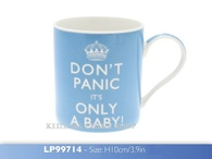 Leonardo LP99714 Don't Panic It's Only A Baby Blue & White