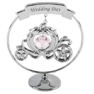 Crystocraft SP381  Chrome Plated Circle Ring Wedding Day - Carriage