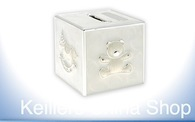 Leonardo LP20164 Silver Plated  MONEY BOX Bank  Cream Christening  Engravable