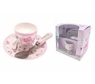LP33113 Bird & Ellie Set With Spoon - Pink