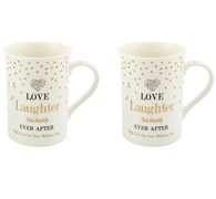 LP33624 Mad Dots Love/Laughter Mugs x2