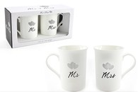 Leonardo LP33261 MR & MRS Fine China Mugs (Set of 2)