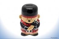 Leonardo LP20052 Piper Bear Money Box Bank Scottish Gift