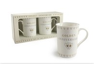 Leonardo LP33173 GOLDEN ANNIVERSARY MUGS (Set of 2)