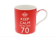 Leonardo LP99715 KEEP CALM YOU ARE ONLY 70 Mug