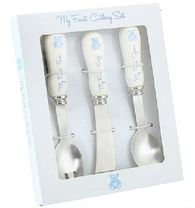 My 1st Teddy Cutlery Set in Blue LP33505 - The Leonardo Collection
