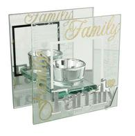 Family 3D Word Glass T-Lite Holder 61114 - Juliana Collection